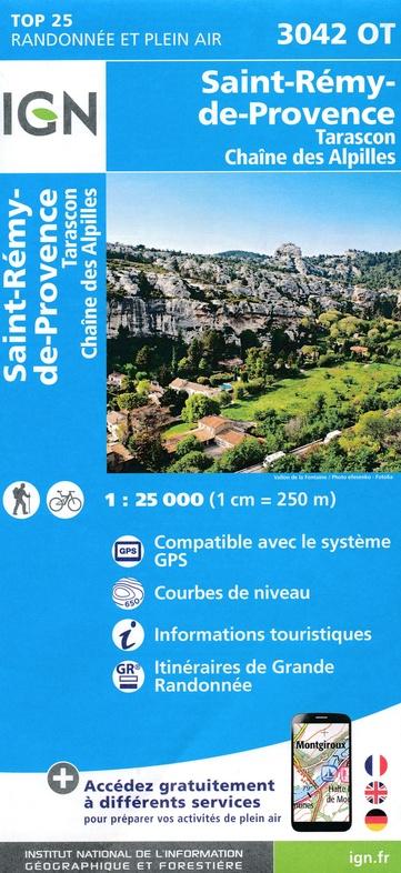 3042OT  Tarascon | wandelkaart 1:25.000 9782758543237  IGN IGN 25 Provence  Wandelkaarten Provence, Marseille, Camargue
