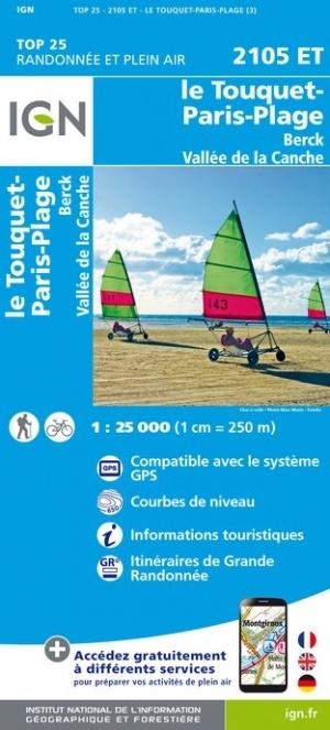 2105ET   Le Touquet - Paris-Plage | wandelkaart 1:25.000 9782758543374  IGN IGN 25 Picardië & Nord  Wandelkaarten Picardie, Nord