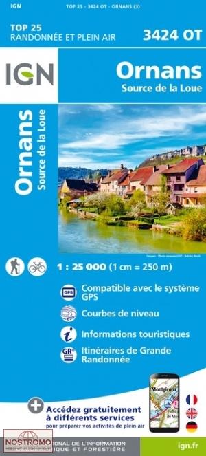3424OT   Mouthier-Haute Pierre | wandelkaart 1:25.000 9782758550198  IGN TOP 25  Wandelkaarten Franse Jura