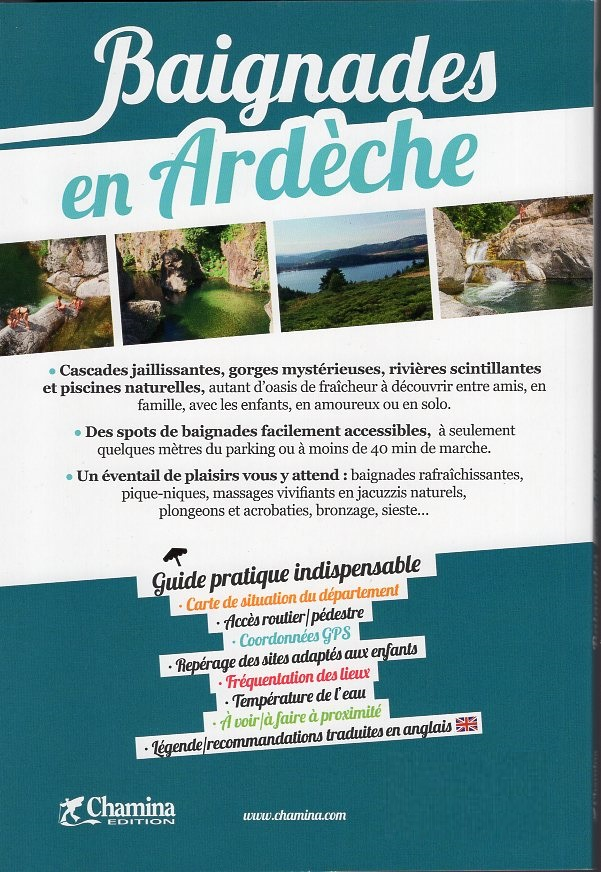 Baignades en Ardèche 9782844665140  Chamina   Reisgidsen Ardèche, Drôme