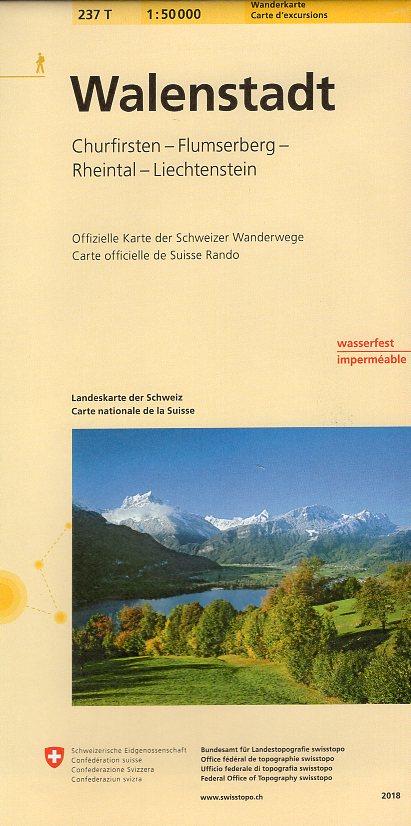 237T  Walenstadt [2018] 9783302302379  Bundesamt / Swisstopo SAW 1:50.000  Wandelkaarten Noordoost- en Centraal Zwitserland
