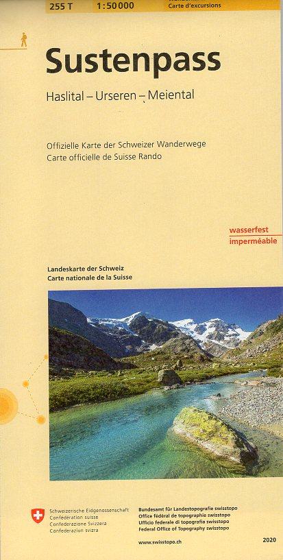 255T Sustenpass [2020] 9783302302553  Bundesamt / Swisstopo SAW 1:50.000  Wandelkaarten Noordoost- en Centraal Zwitserland