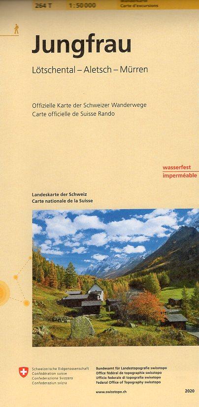 264T Jungfrau [2020] 9783302302645  Bundesamt / Swisstopo SAW 1:50.000  Wandelkaarten Berner Oberland, Basel, Jura, Genève