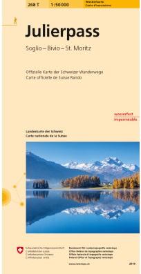 268T  Julierpass  (Graubünden) [2019] 9783302302683  Bundesamt / Swisstopo SAW 1:50.000  Wandelkaarten Graubünden, Tessin