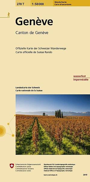 270T Genève [2019] 9783302302706  Bundesamt / Swisstopo SAW 1:50.000  Wandelkaarten Jura, Genève, Vaud