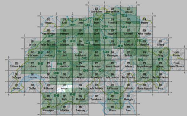 273T  Montana, Wallis [2019] 9783302302737  Bundesamt / Swisstopo SAW 1:50.000  Wandelkaarten Wallis