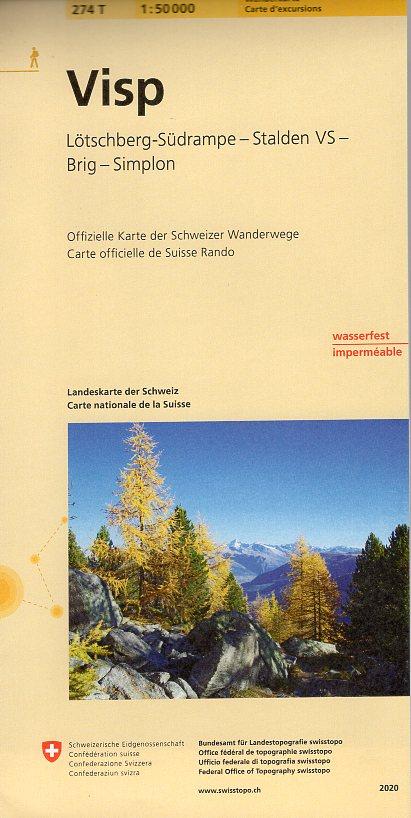 274T  Visp [2020] 9783302302744  Bundesamt / Swisstopo SAW 1:50.000  Wandelkaarten Wallis