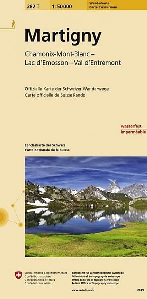 282T  Martigny [2019] 9783302302829  Bundesamt / Swisstopo SAW 1:50.000  Wandelkaarten Wallis