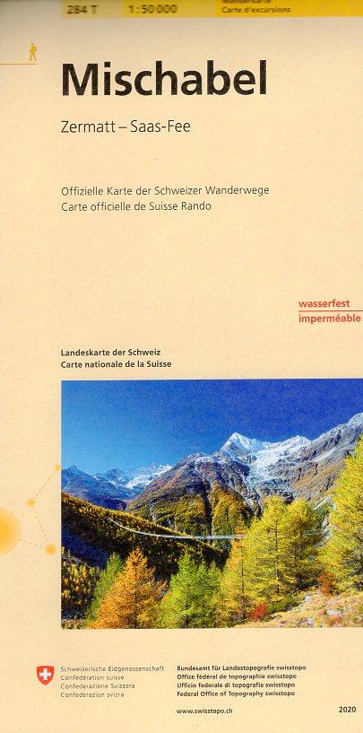 284T  Mischabel [2020] 9783302302843  Bundesamt / Swisstopo SAW 1:50.000  Wandelkaarten Wallis