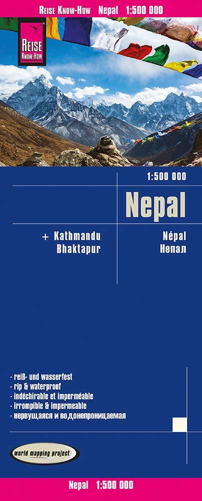 landkaart, wegenkaart Nepal 1:500.000 9783831774395  Reise Know-How WMP Polyart  Landkaarten en wegenkaarten Nepal