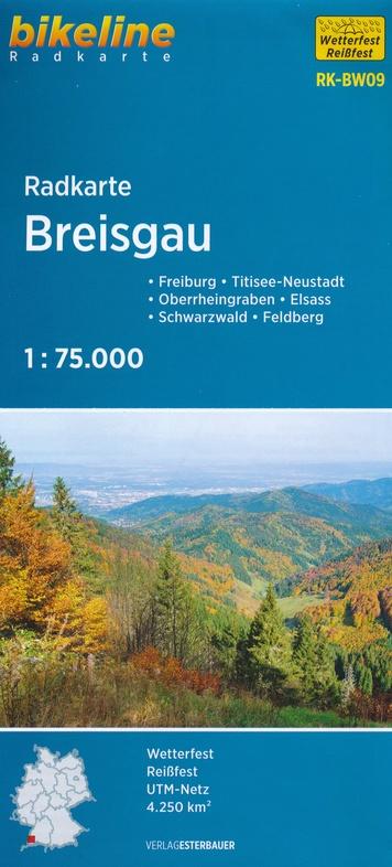 RK-BW09  Breisgau  1:75.000 9783850007962  Esterbauer Bikeline Radkarten  Fietskaarten Zwarte Woud