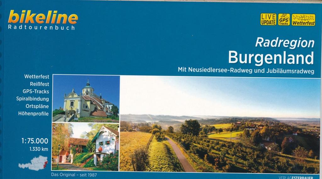 Bikeline Burgenland, Radatlas | fietsgids 9783850007979  Esterbauer Bikeline  Fietsgidsen Wenen, Noord- en Oost-Oostenrijk