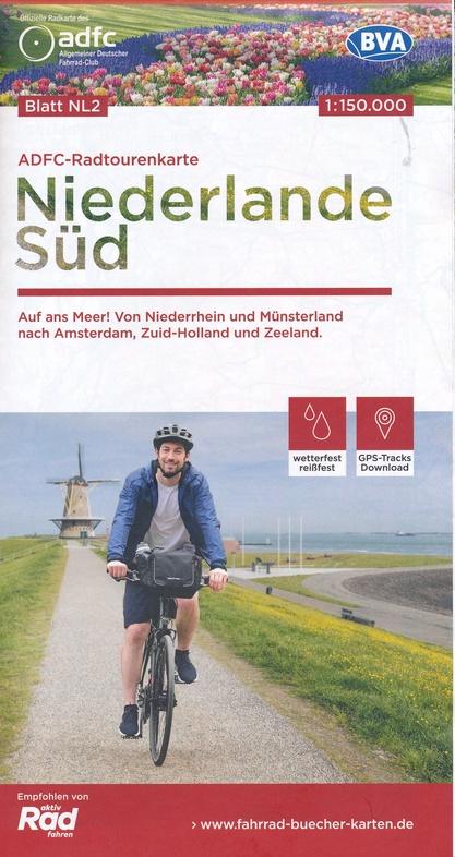 ADFC-NL2 Nederland Zuid | fietskaart 1:150.000 9783870739478  ADFC / BVA Radtourenkarten 1:150.000  Fietskaarten Nederland