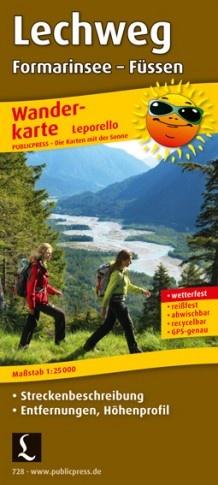 Der Lechweg | Leporello wandelkaart 1:25.000 9783899207286  Publicpress   Wandelkaarten Tirol & Vorarlberg