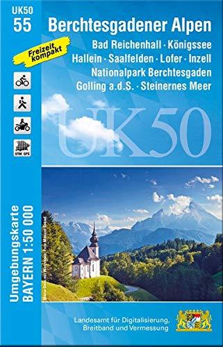 L04 Berchtesgadener Alpen | topografische wandelkaart 1:50.000 9783899337907  LVA Bayern UmgebungsKarte 1:50.000  Wandelkaarten Beierse Alpen