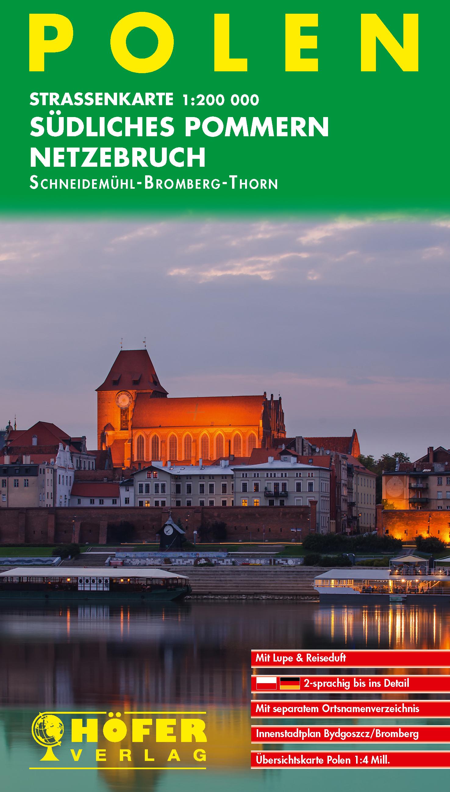 PL-004 Südliches Pommern, Netzebruch 9783931103750  Höfer Verlag   Landkaarten en wegenkaarten Polen