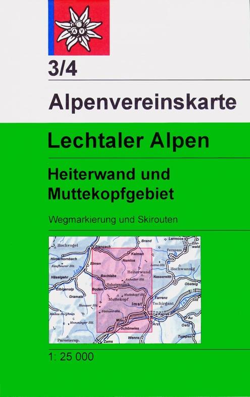 AV-03/4  Lechtaler Alpen, Heiterwand [2020] Alpenvereinskarte wandelkaart 9783937530963  AlpenVerein Alpenvereinskarten  Wandelkaarten Tirol & Vorarlberg