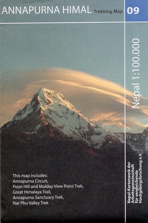 NK-09  Annapurna 1:100.000 9783982057811  Nelles/Nepal Kartenwerk Wandelkaarten Nepal  Wandelkaarten Nepal