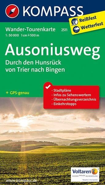 KP-2511 Ausoniusweg | Kompass wandelkaart 1:50.000 9783990442548  Kompass Wandelkaarten Kompass Duitsland  Meerdaagse wandelroutes, Wandelkaarten Saarland, Hunsrück