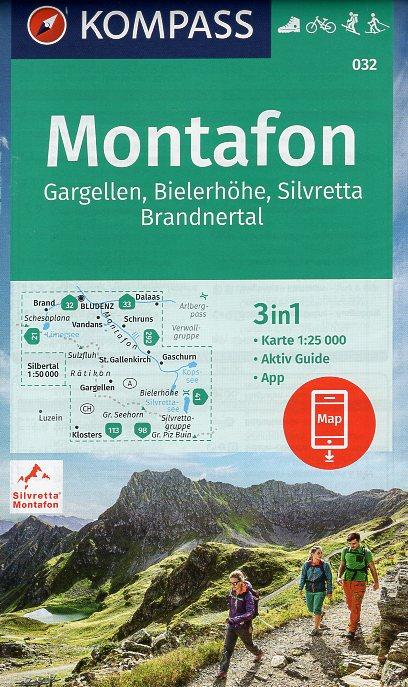 KP-032  Alpenpark Montafon | Kompass wandelkaart 9783990447437  Kompass Wandelkaarten Kompass Oostenrijk  Wandelkaarten Tirol & Vorarlberg