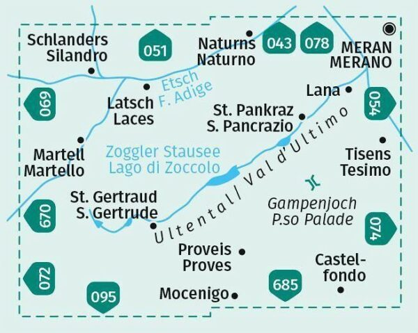 KP-052 Ultental | Kompass wandelkaart 1:25.000 9783990447451  Kompass Wandelkaarten Kompass Italië  Wandelkaarten Zuid-Tirol, Dolomieten