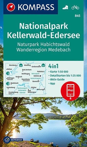 KP-845  NP Kellerwald-Edersee, Habichtswald | Kompass 9783990448496  Kompass Wandelkaarten Kompass Duitsland  Wandelkaarten Noord- en Midden-Hessen, Kassel