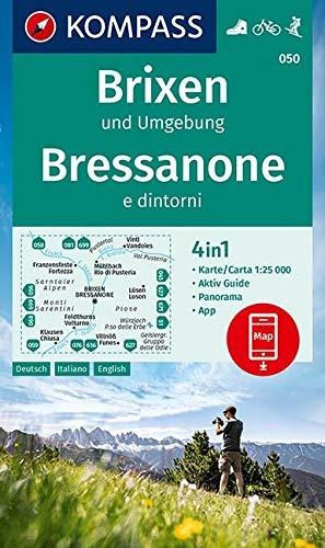 KP-050  Brixen,St.Vigil 1:25.000 | Kompass wandelkaart 9783990448533  Kompass Wandelkaarten Kompass Italië  Wandelkaarten Zuid-Tirol, Dolomieten