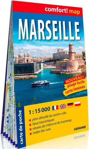 Marseille stadsplattegrond 1:15.000 9788380467606  IGN   Stadsplattegronden Provence, Marseille, Camargue
