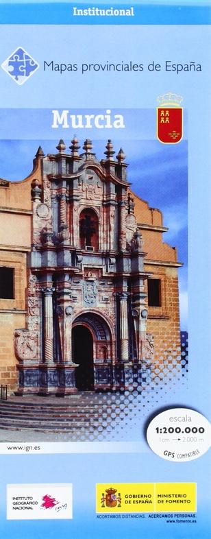 Prov.: Murcia 1:200.000 9788441646377  CNIG Provinciekaarten Spanje  Landkaarten en wegenkaarten Andalusië