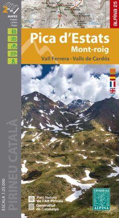 Pica d'Estats 1:25.000 9788480908214  Editorial Alpina Wandelkaarten Spaanse Pyreneeë  Wandelkaarten Spaanse Pyreneeën