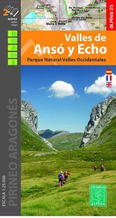 Valles de Ansó y Echo 1:25.000 9788480908313  Editorial Alpina Wandelkaarten Spaanse Pyreneeë  Wandelkaarten Spaanse Pyreneeën