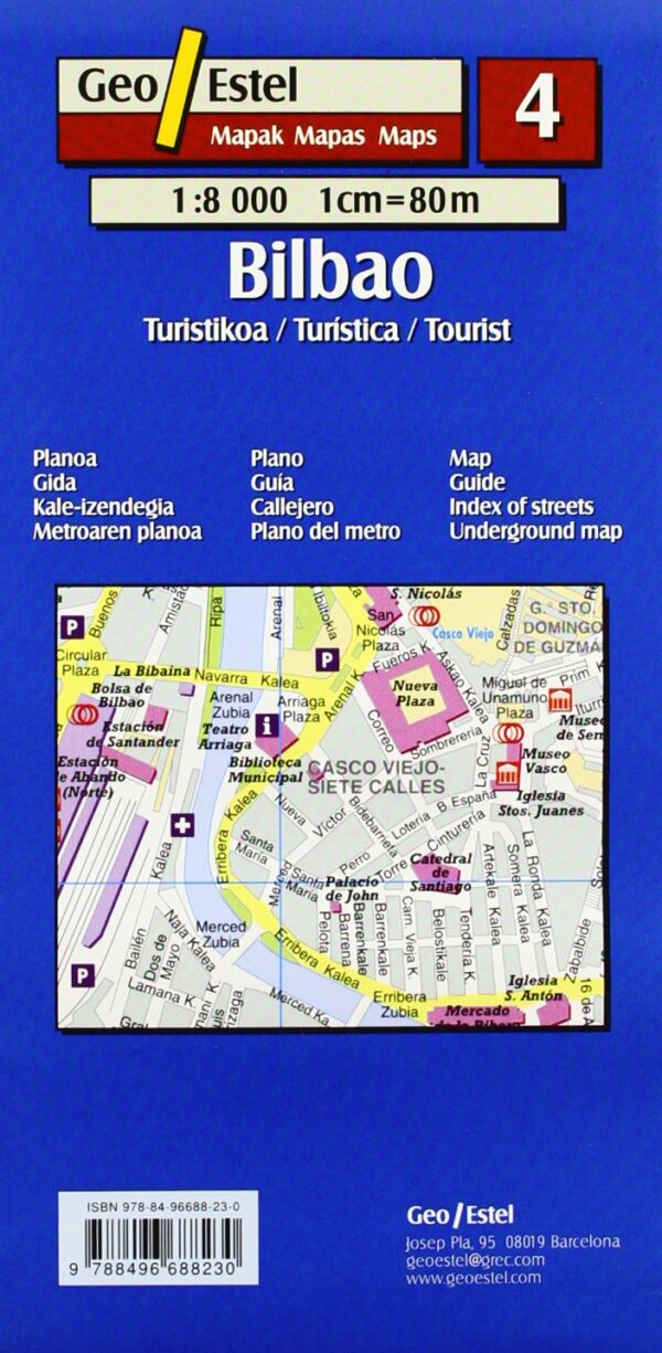 Bilbao   stadsplattegrond 1:8.000 9788496688230  Geo Estel   Stadsplattegronden Baskenland