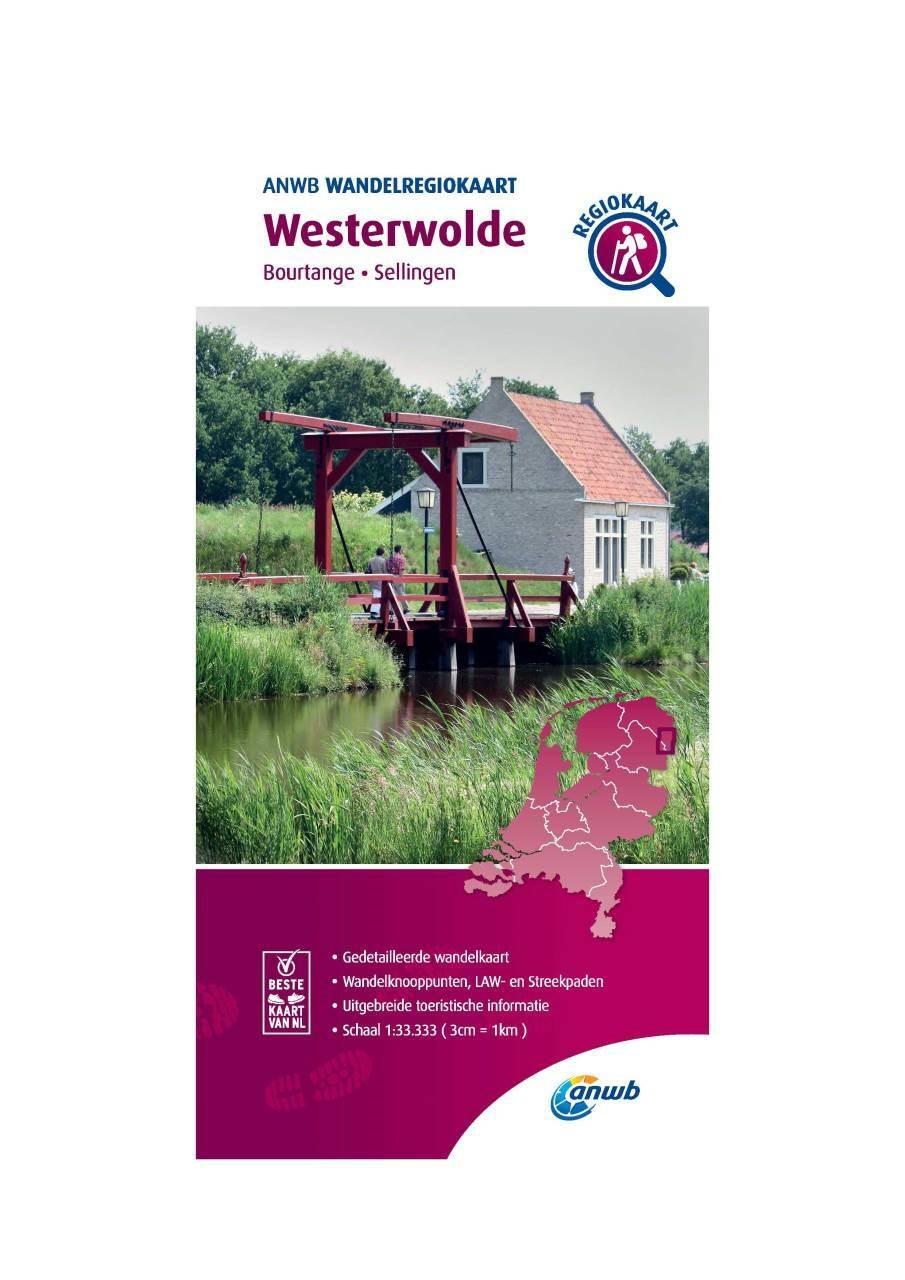 WRK-01 Westerwolde | ANWB wandelkaart 1:33.333 9789018046354  ANWB Wandelregiokaarten 1:33.333  Wandelkaarten Groningen