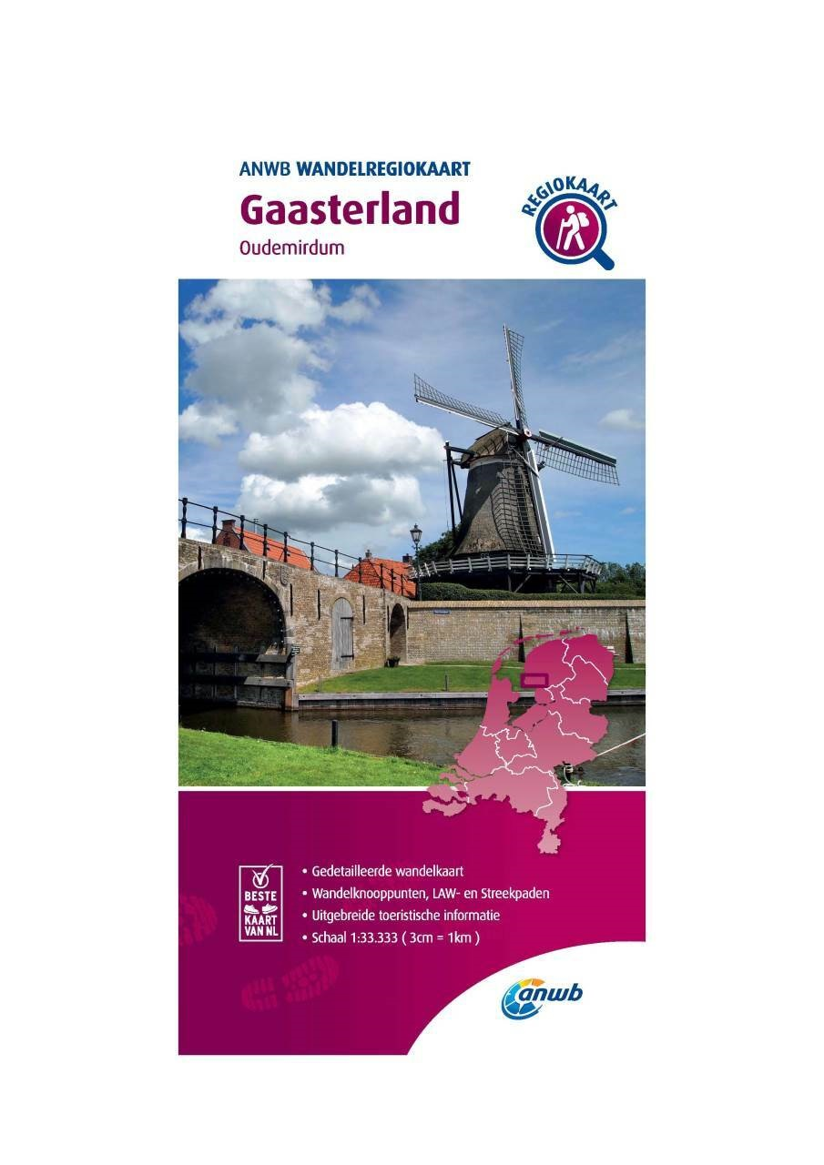WRK-02 Gaasterland | ANWB wandelkaart 1:33.333 9789018046361  ANWB Wandelregiokaarten 1:33.333  Wandelkaarten Friesland