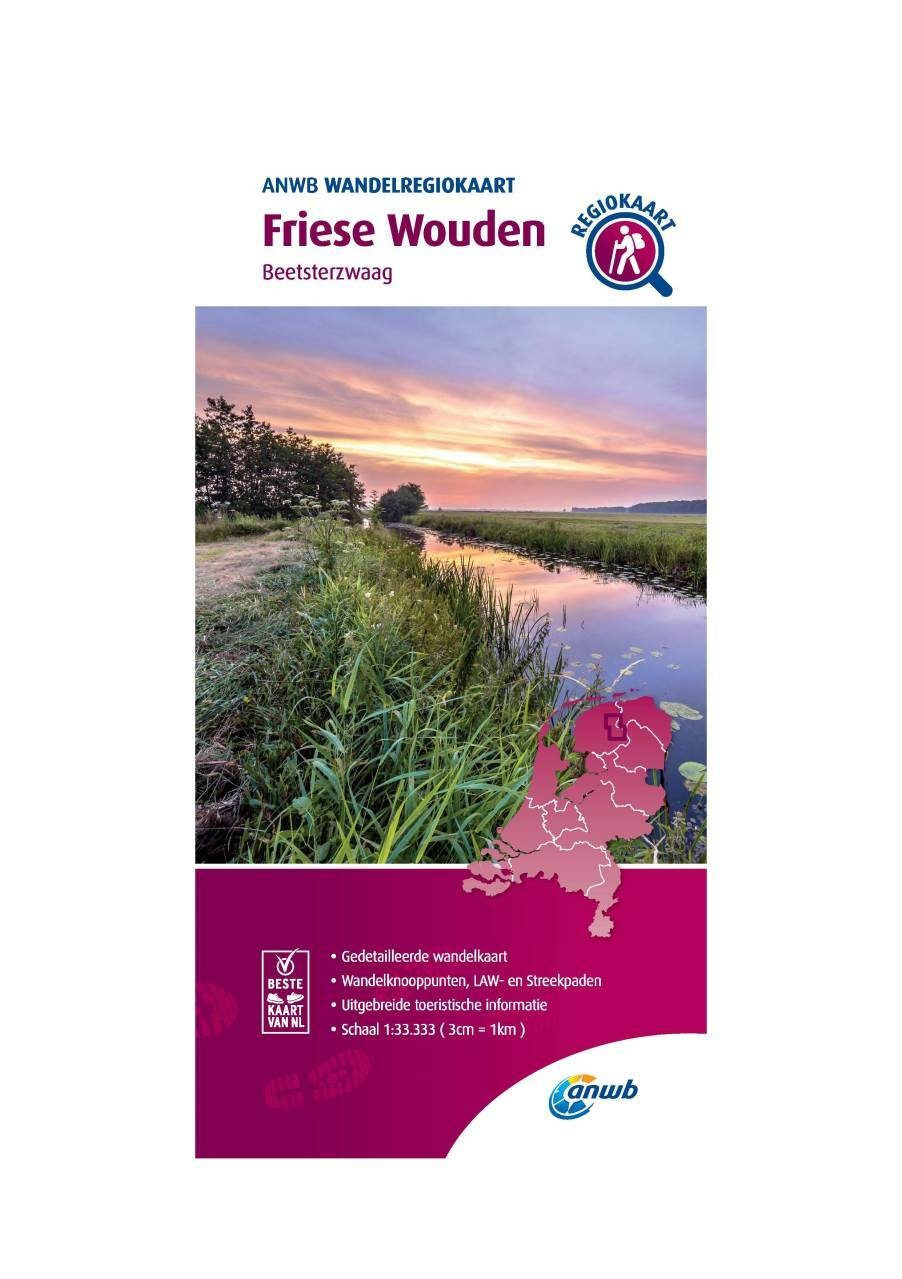WRK-04 Friese Wouden | wandelkaart 1:33.333 9789018046385  ANWB Wandelregiokaarten 1:33.333  Wandelkaarten Friesland