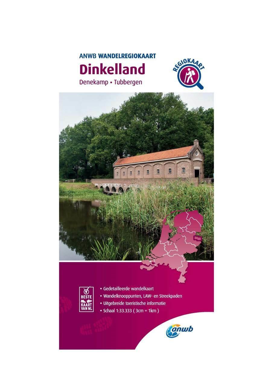 WRK-11 Dinkelland | ANWB wandelkaart 1:33.333 9789018046453  ANWB Wandelregiokaarten 1:33.333  Wandelkaarten Twente