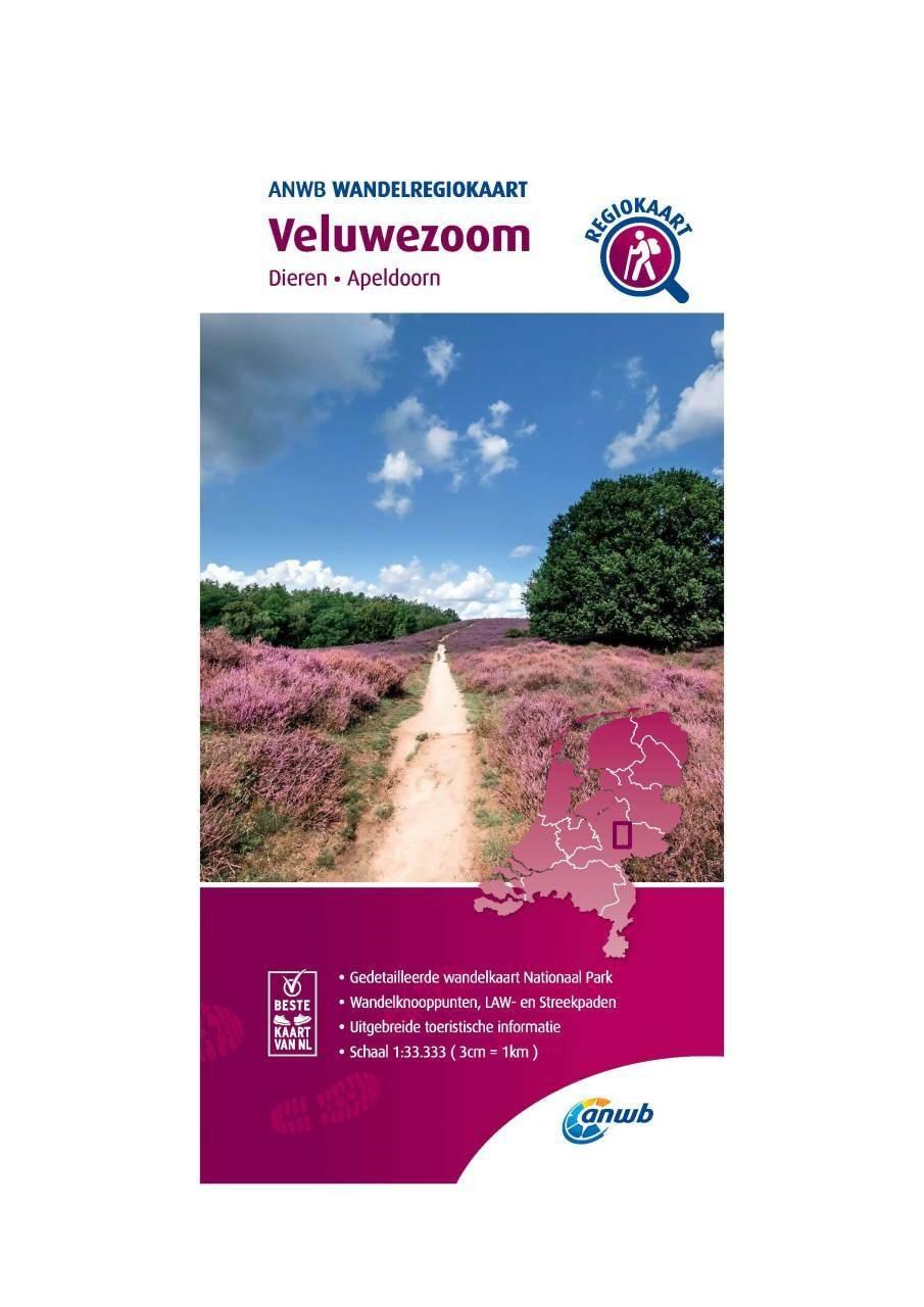 WRK-13 Veluwezoom | ANWB wandelkaart 1:33.333 9789018046477  ANWB Wandelregiokaarten 1:33.333  Wandelkaarten Arnhem en de Veluwe