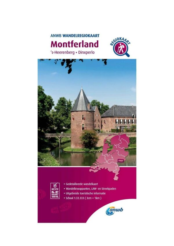 WRK-14 Montferland | ANWB wandelkaart 1:33.333 9789018046484  ANWB Wandelregiokaarten 1:33.333  Wandelkaarten Gelderse IJssel en Achterhoek