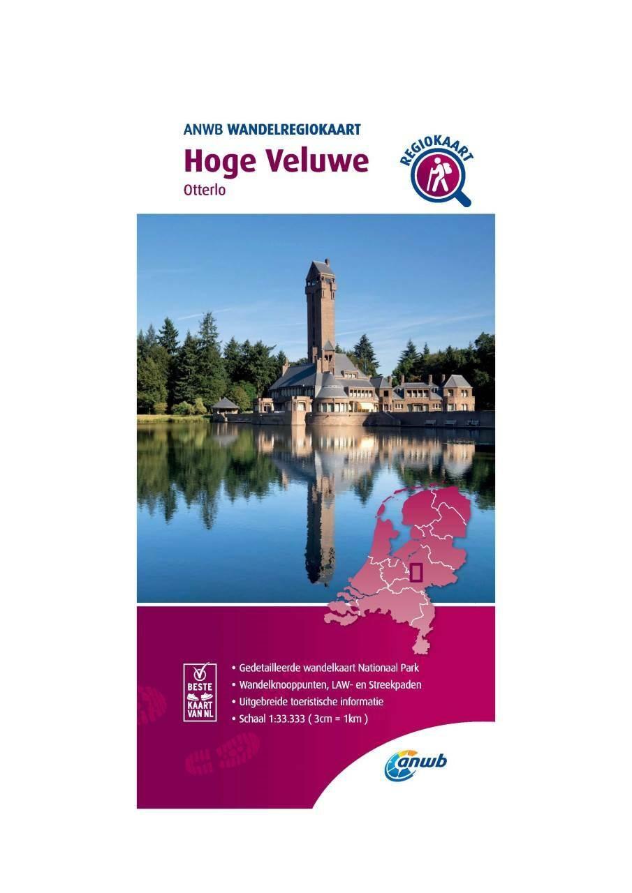 WRK-16 Hoge Veluwe | ANWB wandelkaart 1:33.333 9789018046507  ANWB Wandelregiokaarten 1:33.333  Wandelkaarten Arnhem en de Veluwe
