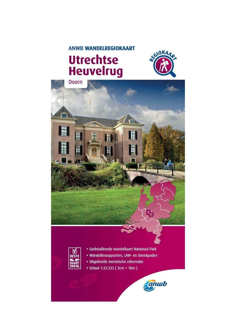 WRK-17 Utrechtse Heuvelrug | wandelkaart 1:33.333 9789018046514  ANWB Wandelregiokaarten 1:33.333  Wandelkaarten Utrecht
