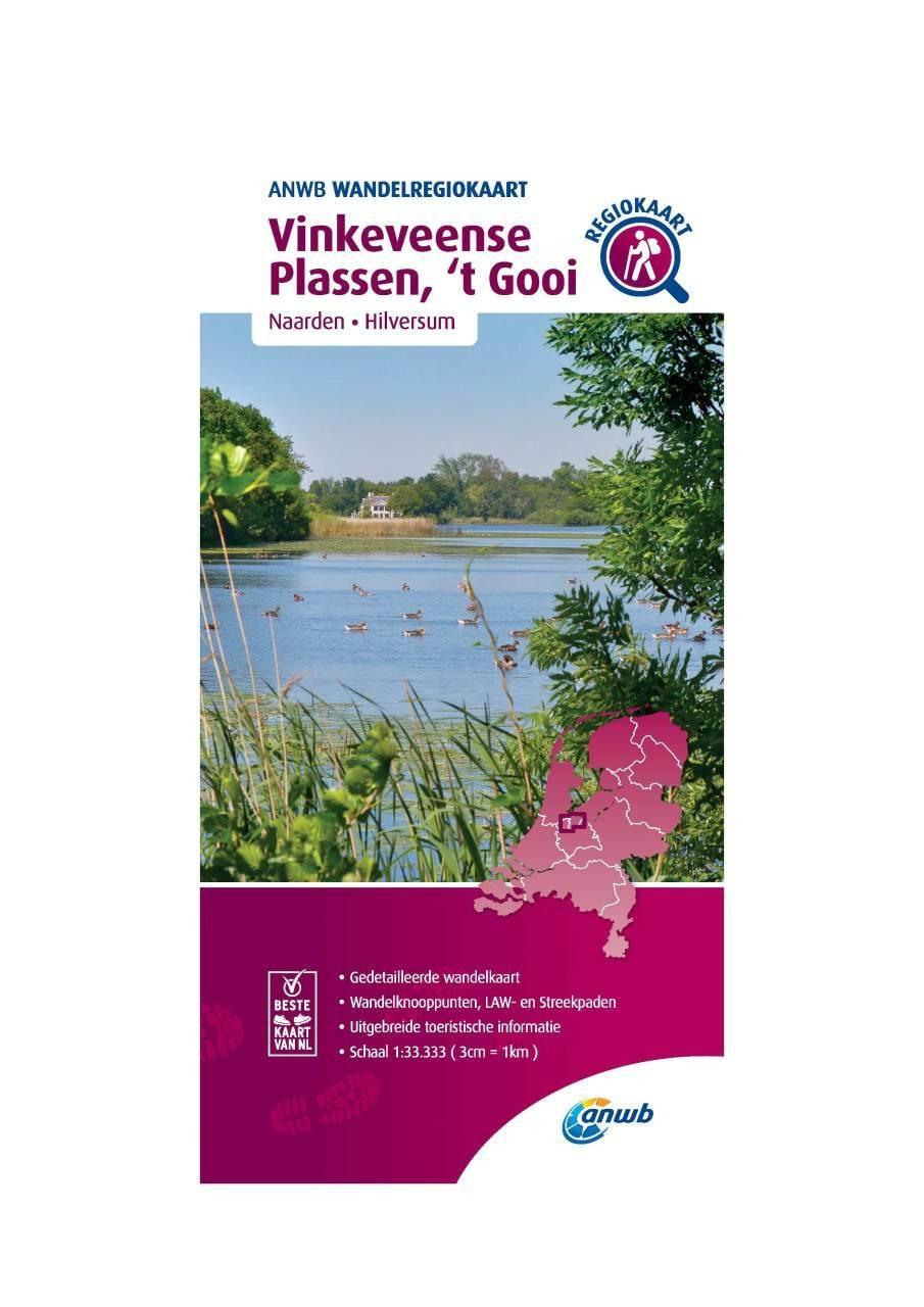 WRK-18 Vinkeveense Plassen, 't Gooi | ANWB wandelkaart 1:33.333 9789018046521  ANWB Wandelregiokaarten 1:33.333  Wandelkaarten Noord-Holland