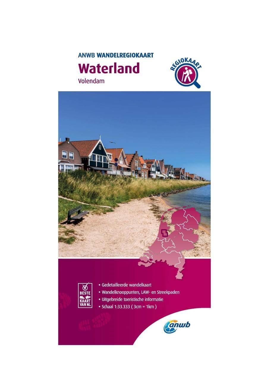 WRK-20 Waterland | wandelkaart 1:33.333 9789018046545  ANWB Wandelregiokaarten 1:33.333  Wandelkaarten Noord-Holland