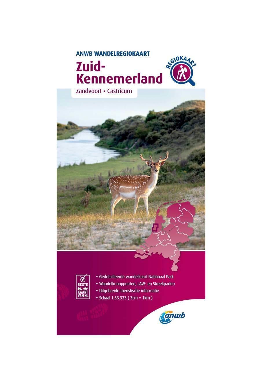 WRK-21 Zuid-Kennemerland | wandelkaart 1:33.333 9789018046552  ANWB Wandelregiokaarten 1:33.333  Wandelkaarten Noord-Holland