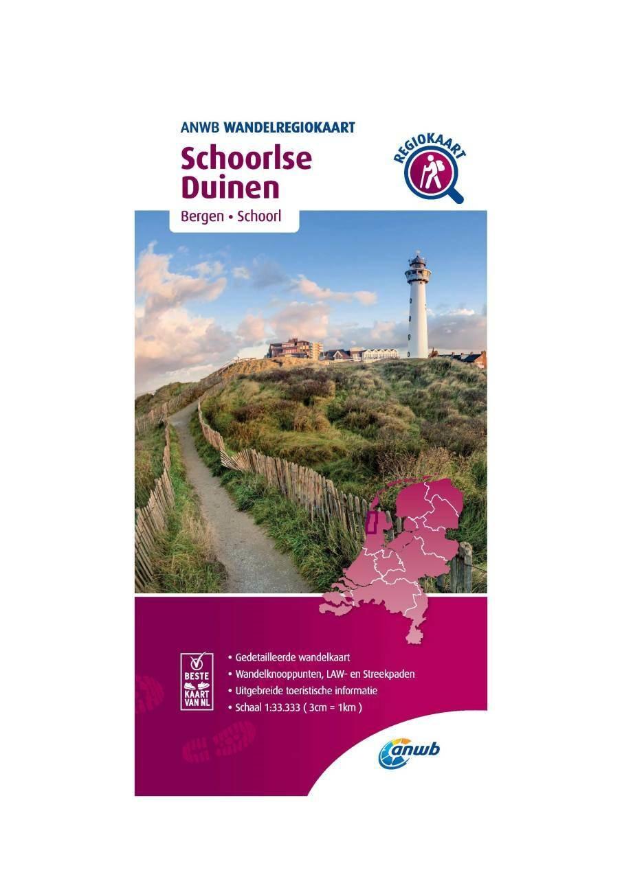 WRK-22 Schoorlse Duinen | ANWB wandelkaart 1:33.333 9789018046569  ANWB Wandelregiokaarten 1:33.333  Wandelkaarten Noord-Holland