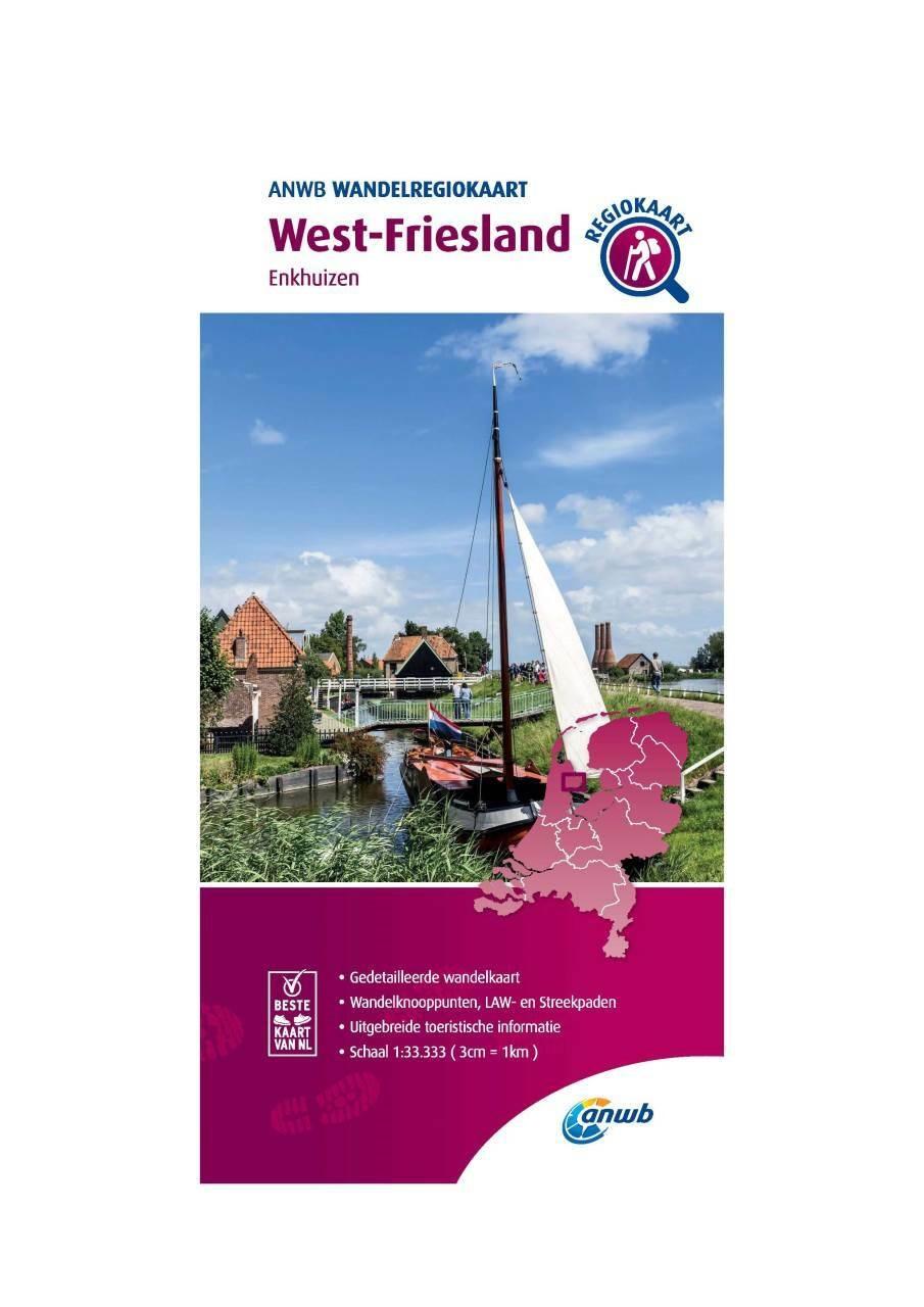 WRK-23 West-Friesland | wandelkaart 1:33.333 9789018046576  ANWB Wandelregiokaarten 1:33.333  Wandelkaarten Noord-Holland