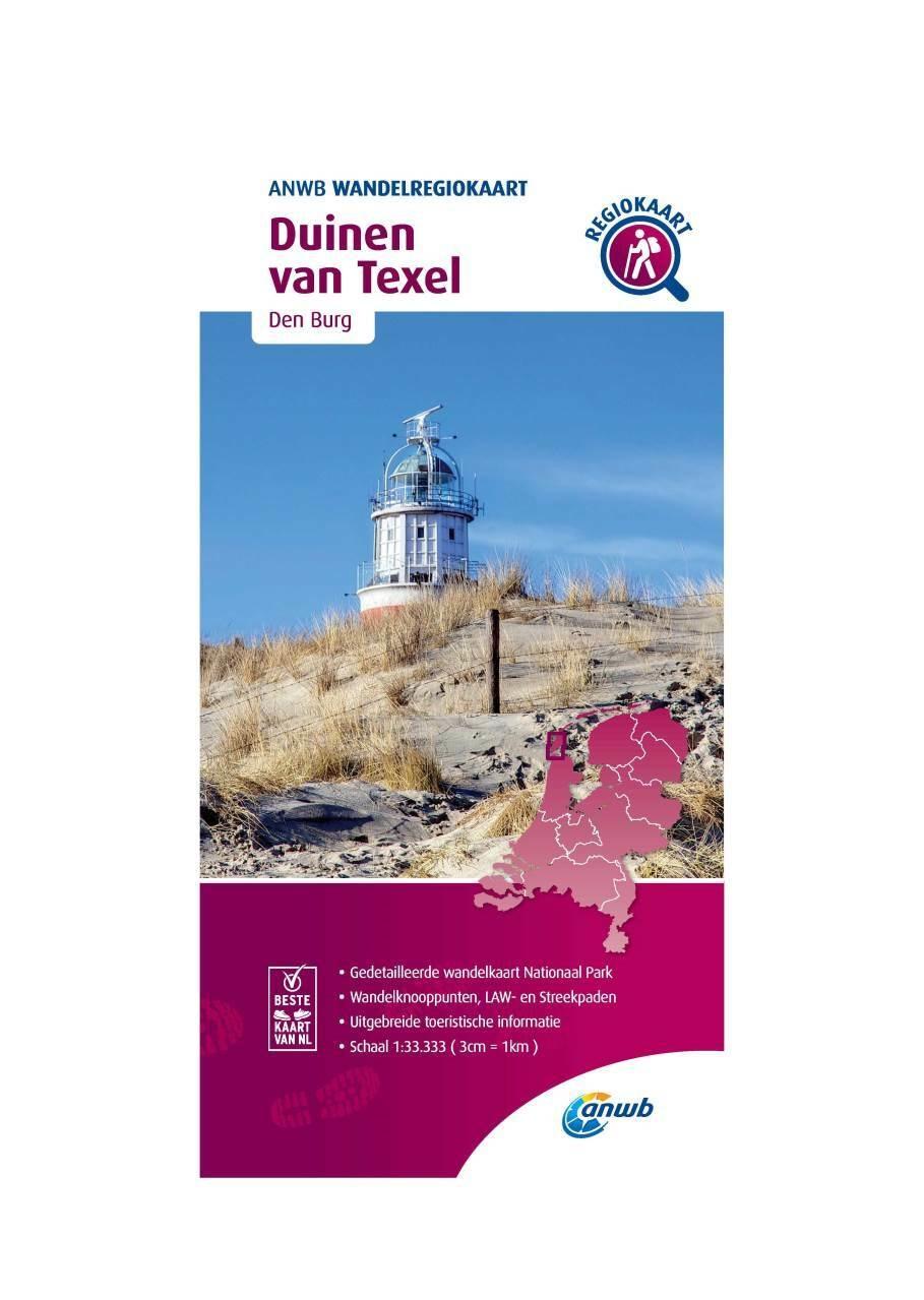 WRK-24 Duinen van Texel | wandelkaart 1:33.333 9789018046583  ANWB Wandelregiokaarten 1:33.333  Wandelkaarten Waddeneilanden en Waddenzee
