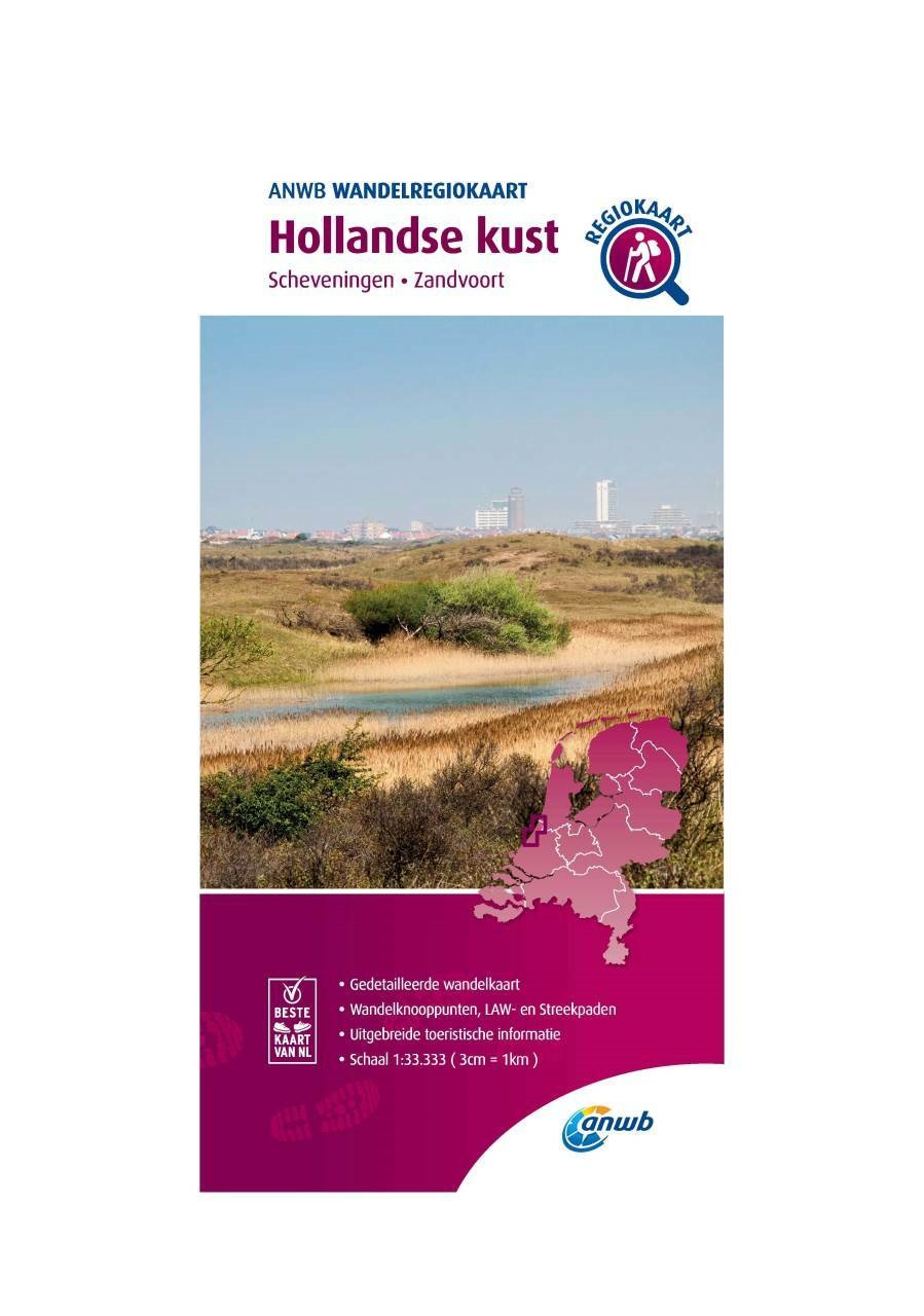 WRK-26 Hollandse Kust | wandelkaart 1:33.333 9789018046606  ANWB Wandelregiokaarten 1:33.333  Wandelkaarten Den Haag, Rotterdam en Zuid-Holland