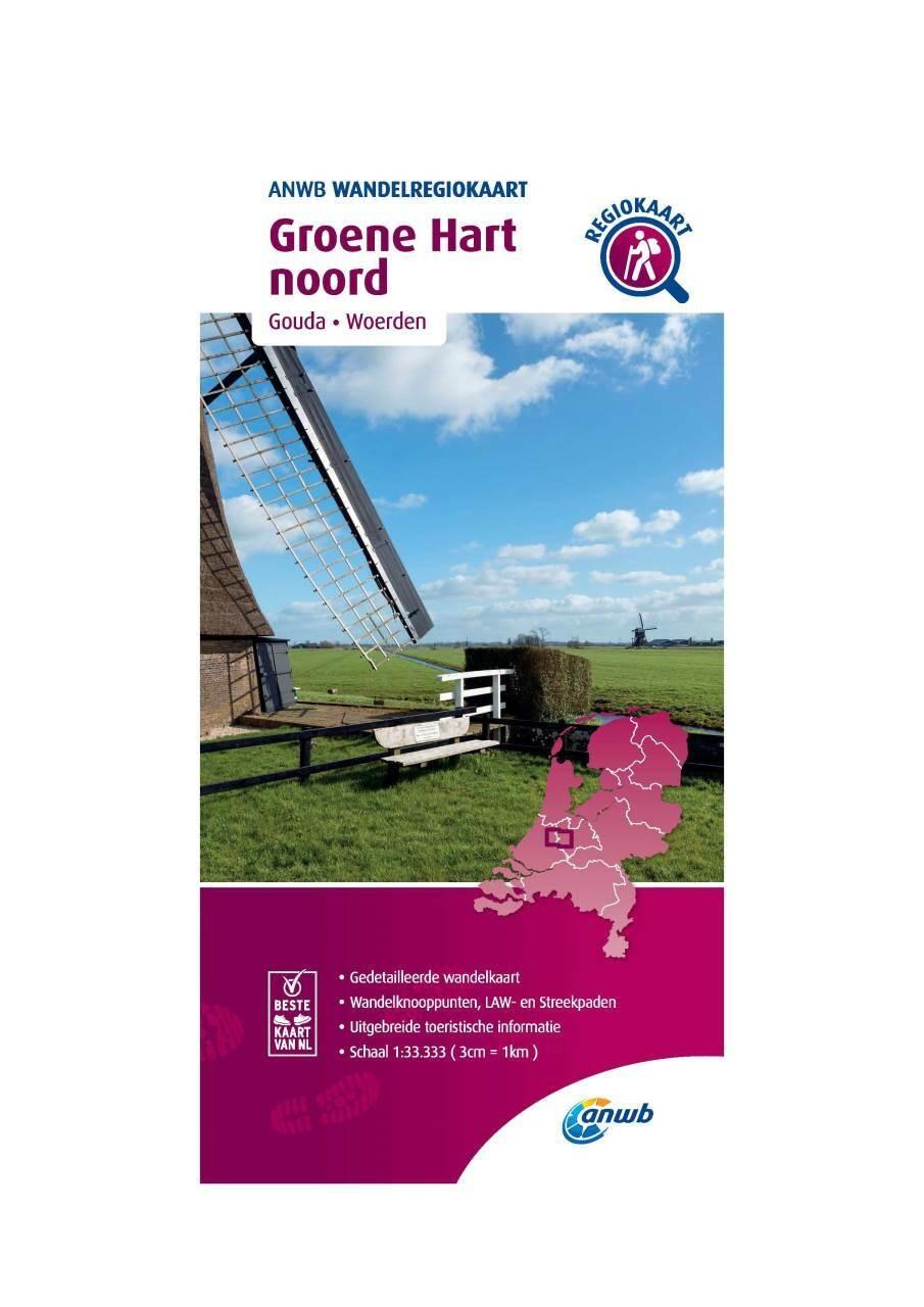WRK-29 Groene Hart noord | ANWB wandelkaart 1:33.333 9789018046637  ANWB Wandelregiokaarten 1:33.333  Wandelkaarten Den Haag, Rotterdam en Zuid-Holland