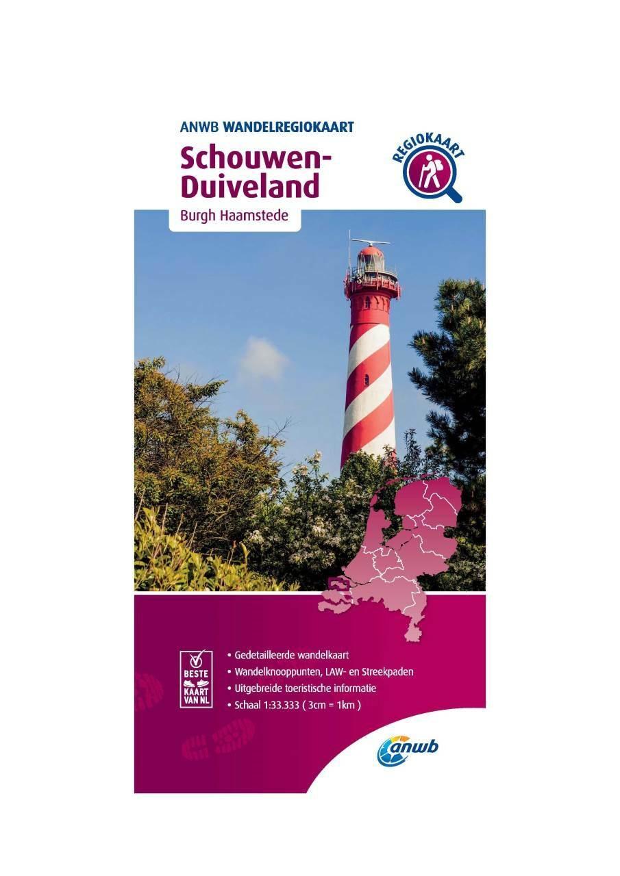 WRK-30 Schouwen Duiveland | ANWB wandelkaart 1:33.333 9789018046644  ANWB Wandelregiokaarten 1:33.333  Wandelkaarten Zeeland