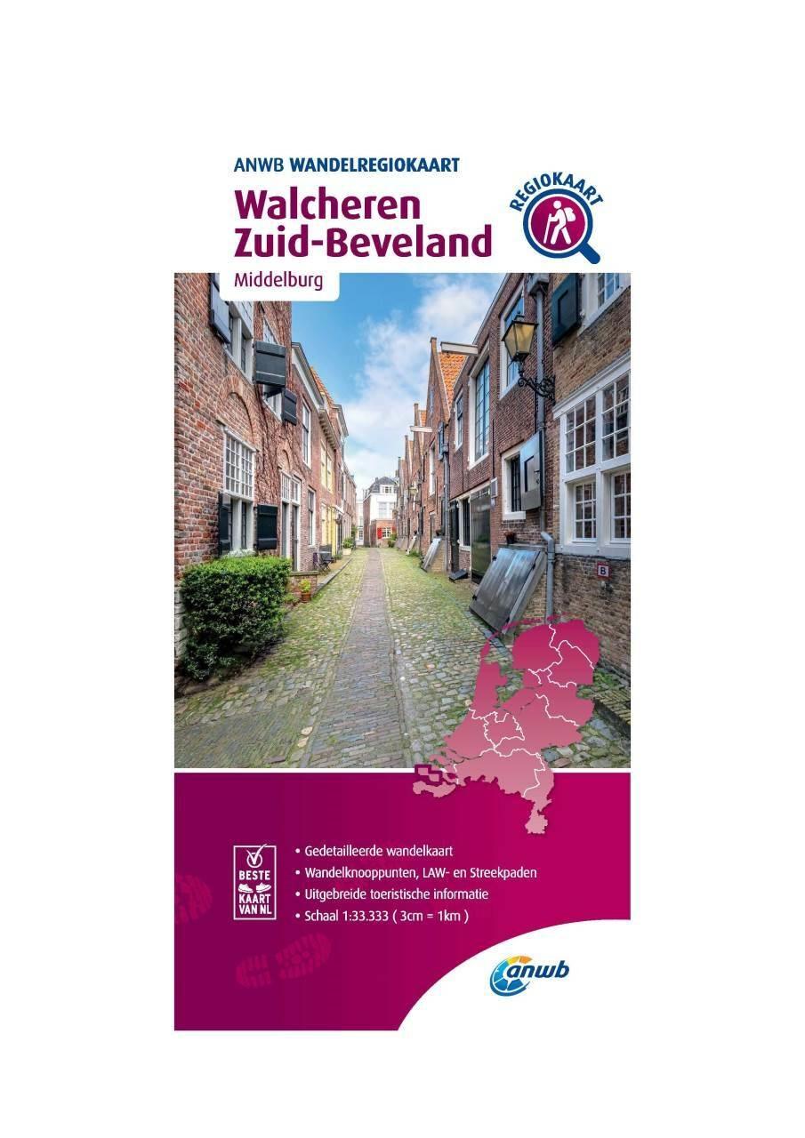 WRK-31 Walcheren, Zuid-Beveland | wandelkaart 1:33.333 9789018046651  ANWB Wandelregiokaarten 1:33.333  Wandelkaarten Zeeland